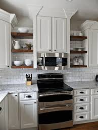 Kitchen Contemporary Kitchen Shelves Open Ideas Wall For