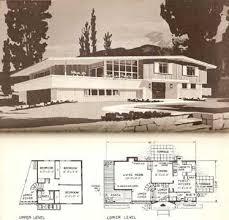 multi level home floor plans vintage mod split level encyclopedia of home designs