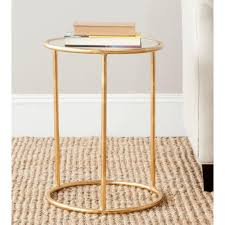 Drum Accent Table by Safavieh Shay Gold Mirror Top End Table Fox2523a The Home Depot