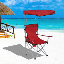 Sports Chair With Umbrella Outsunny Folding Camp Chair Outdoor Picnic Portable Armchair