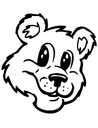 bear face coloring page cecilymae