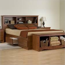 Brown Wood Bed Frame Useful King Storage Bed Frame Theringojets Storage