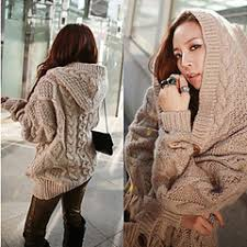 women u0027s chunky cable knit sweater hoodie whhhaaaaatttt where