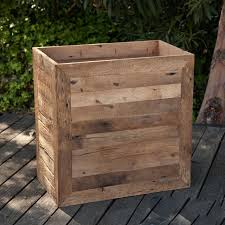 large planter boxes commercial reclaimed wood planters unlimited
