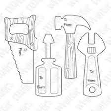 construction tools coloring pages 7 best images of printable wrench template wrench coloring page