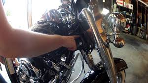 how to lubricate steering head bearings on a 2013 harley softail