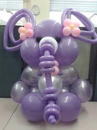 purple elephant baby shower decorations purple elephant balloon sculpture for a baby shower