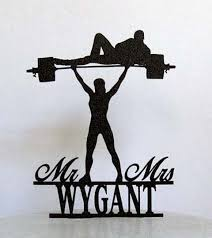 weight lifting cake topper acrylic wedding cake toppers mr mrs weight lifting