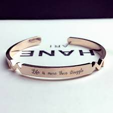 personalized initial bracelets gold custom cuff bangle laser engraved name bracelet personalized