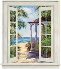 Barn Murals Window Murals Rustic Barn Window Mural Oceanview Window Mural