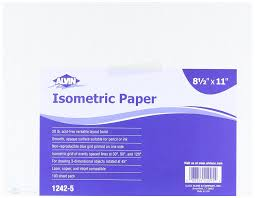 Kitchen Design Graph Paper Amazon Com Alvin 1242 5 Isometric Paper 100 Sheet Pack 8 5 Inches