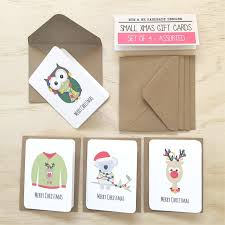 gift card packs christmas mini gift card pack envelopes gc08 and me