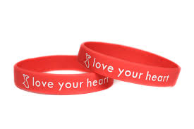 women bracelet heart images Go red for women bracelet american heart association red rubber jpg
