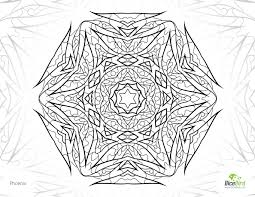 free coloring pages to print phoenix mandala design