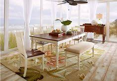 shop for a cindy crawford home ocean grove gray 5 pc dining room