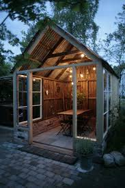 Backyard Cottage Ideas by Make A Backyard Party Shed Like This One With A Covered Table For