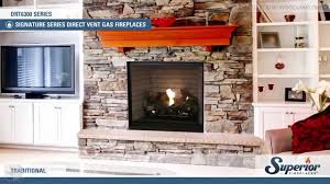 superior drt6300 direct vent gas fireplace youtube