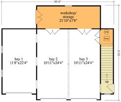 garage floor plan 3 bay detached garage and apartment 29853rl architectural