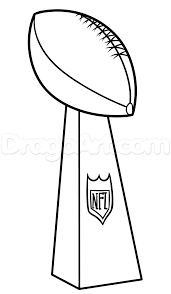 super bowl drawing lesson vince lombardi trophy step by step