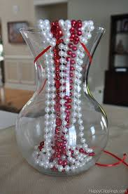 Beaded Vases Heart Shaped Bead Necklace Vase Fillers