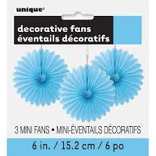 tissue paper fans tissue paper fan decorations 6 in light blue 3ct walmart