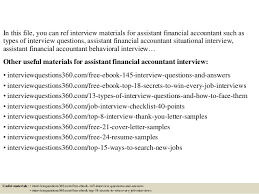 top 10 assistant financial accountant interview questions and answers