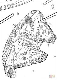 millennium falcon coloring free printable coloring pages