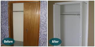 Cheap Closet Doors For Bedrooms Bifold Wood Closet Doors Home Design Ideas And Pictures