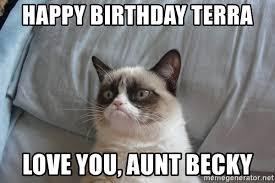 Cat Meme Generator - happy birthday grumpy cat meme generator passionx