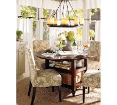 pottery barn cafe curtains parsons chairs kitchen pinterest