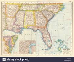 Ms Map Usa Deep South La Ar Ms Al Tn Fl Ge Sc Nc New Orleans United