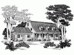 gambrel house plans bell shaped gambrel roof hwbdo03668 colonial from
