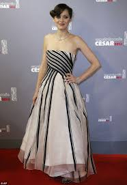 berenice bejo and marion cotillard wow in elegant dresses as they
