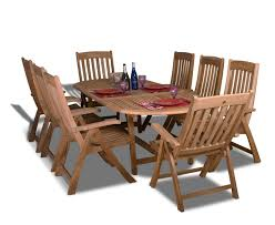amazon com amazonia teak belfast 9 piece teak oval dining set