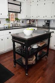 powell color black butcher block kitchen island movable butcher block kitchen island kitchen islands rolling on