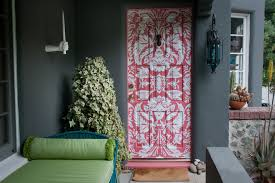 coral comforter in entry eclectic with exterior paint colors with