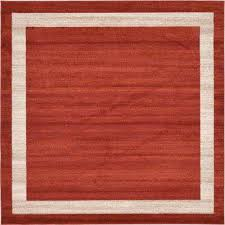 Red And Orange Rug Orange Square 7 U0027 And Larger Area Rugs Rugs The Home Depot