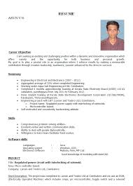 Best Sample Resume For Freshers Engineers by Sample Resume For Freshers Engineers Electronics Resume Templates
