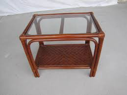 coffee table coffee table rattan with glass topround ottoman