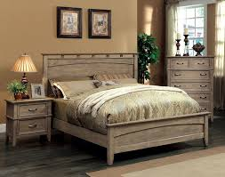 White And Oak Bedroom Furniture Amazon Com Furniture Of America Vine Ii Rustic Style Solid Wood