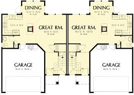 architectural design plans large colonial style duplex plan 69378am architectural designs