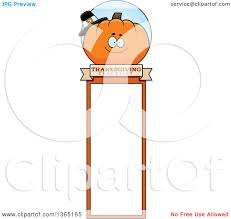 clipart of a thanksgiving pumpkin character bookmark royalty