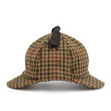 tweed deerstalker hat