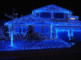 blue led lights with c9 led light bulbs and 3 outline on
