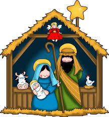clip art of stable and baby jesus at christmas clip art library