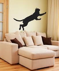 vinyl wall decal sticker jumping cat os mb386