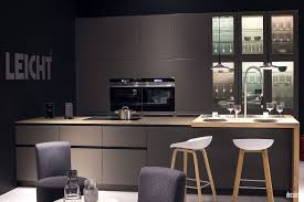 White Wooden Bar Stool Gray Cabinets And Island Double Black Wall Ovens White Wooden Bar