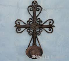 Cast Iron Wall Sconce Vintage Faith Cast Iron Wall Cross Candle Sconces Candlestick