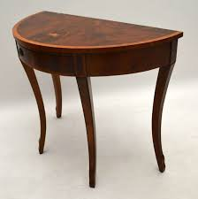 Yew Side Table Antique Yew Wood Console Side Table 1930 To 1939 From