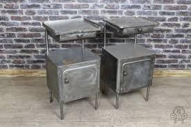 Vintage Bedside Tables Vintage Metal Bedside Cabinets Industrial Polish